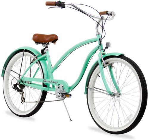 "26/"" Beach Cruiser Bike Bicycle Firmstrong Chief Women 7 spd vanilla"