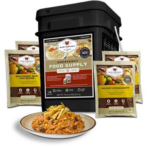 Emergency Food Supply Prepper Pack Sealed Survival Ration Bucket 52 Servings