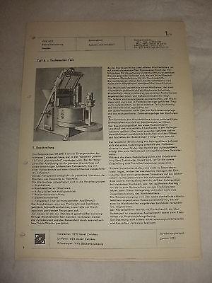 Original Ddr Reklame Prospekt Datenblatt Rotormischer Mr 250/1 Veb Hazet 1973 Reklame