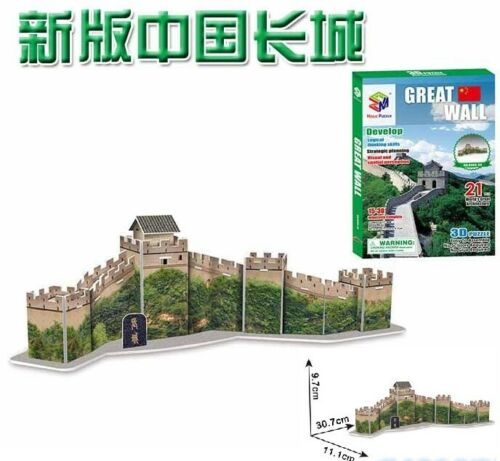 3D paper puzzle building model toy Chinese famous Architecture Great Wall 1pc