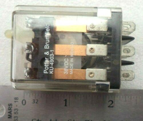 10 Relays per Lot P/&B KU-4903-1 TE 1423983-2 38Vdc General Purpose Relay