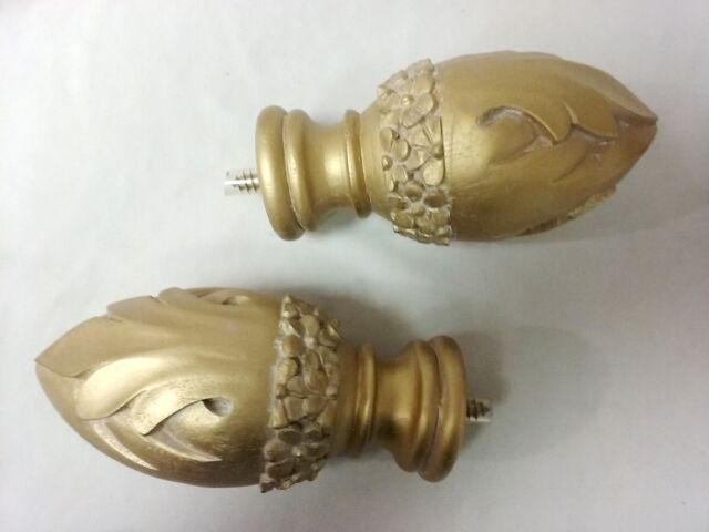 Cassidy West Drapery Medallions Scarf Holder Tie Back Golden Oak 6 Sets Of 2