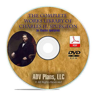 3,500 Bible Sermons, CH Spurgeon, Christian Preaching Commentary, DVD F06 |  eBay