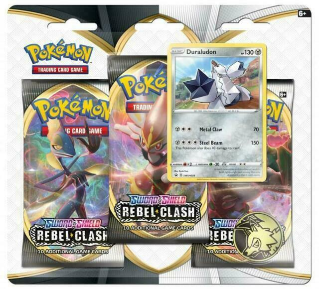 Pokemon Sword /& Shield Rebel Clash booster packs 5 pack lot