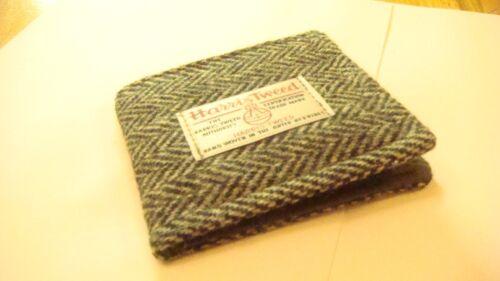 Nero Bianco Harris Tweed Tartan wallet made in Scotland da Uomo Regalo