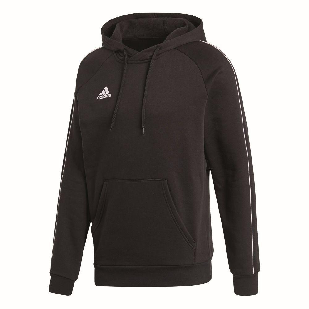 Adidas Kids Sports Football Soccer Hoodie Hooded Sweatshirt Long Sleeve Top Blac