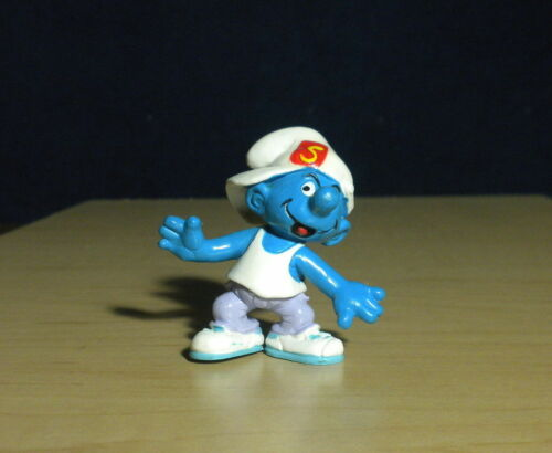 Smurfs 20437 Techno Smurf Hip Hop Dancing Rare Vintage Figure PVC Toy Figurine