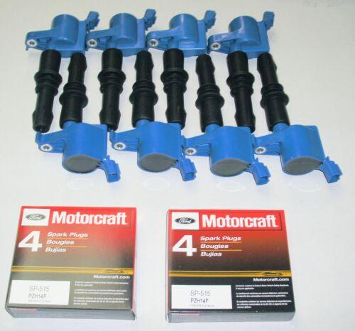 05-08 F250 5.4L 8+IGNITION COILS HEAVY DUTY BLUE 8  MOTORCRAFT  SP515//SP546