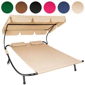 sonnenliege doppelliege gartenliege relaxliege liege mit sonnendach ebay. Black Bedroom Furniture Sets. Home Design Ideas