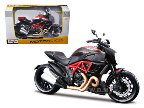 DUCATI DIAVEL RED /& CARBON 1//12 DIECAST MOTORCYCLE MODEL BY MAISTO 31196