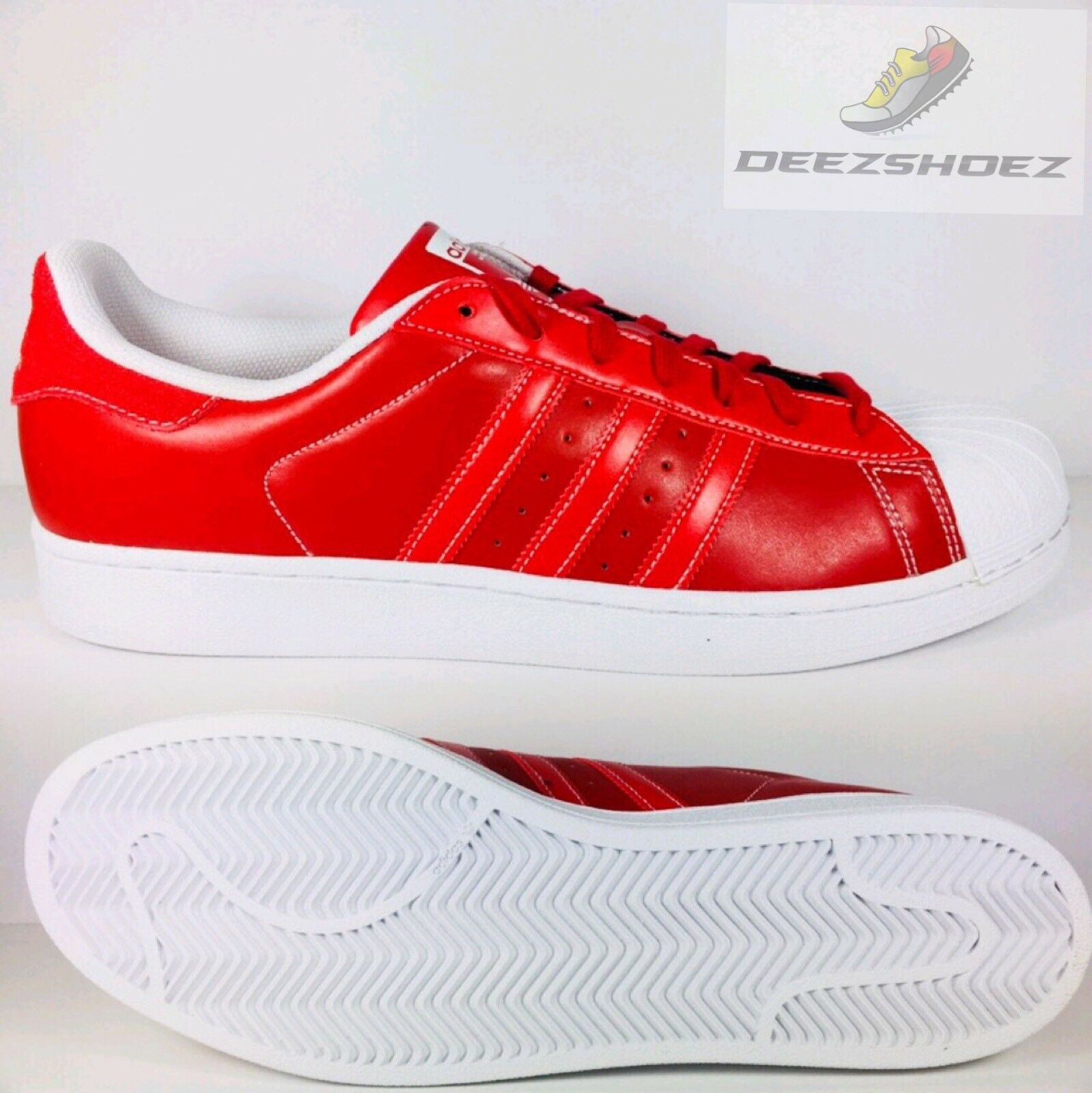 Adidas Orginal Superstar Scarlet Red/White Mens D69299 Us Size 13.5