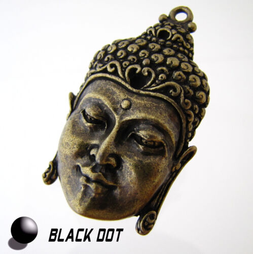Bouddha bijoux pendentif grand métal mat bronze buddhakopf 50x30mm
