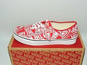 225c839ac3 VANS AUTHENTIC OTW REPEAT RED TRUE WHITE TEXTILE UNISEX LACE UP ...