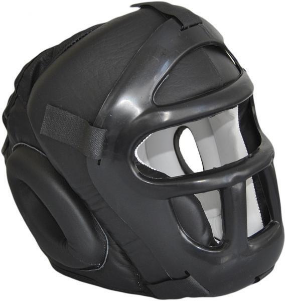 Kopfschützer Kopfschützer Kopfschützer mit Gitter aus Leder. Kendo, Aikido, Muay Thai. Escrima, Wing Tsun 84604b