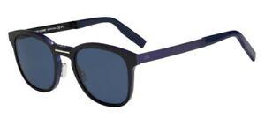 Christian-Dior-HOMME-AL13-11-003-KU-Matte-Black-Blue-Silver-Folding-Men-Sunglass