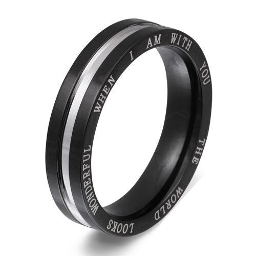 176h Señores anillo de pareja anillo de bodas de acero inoxidable incl grabado gratis