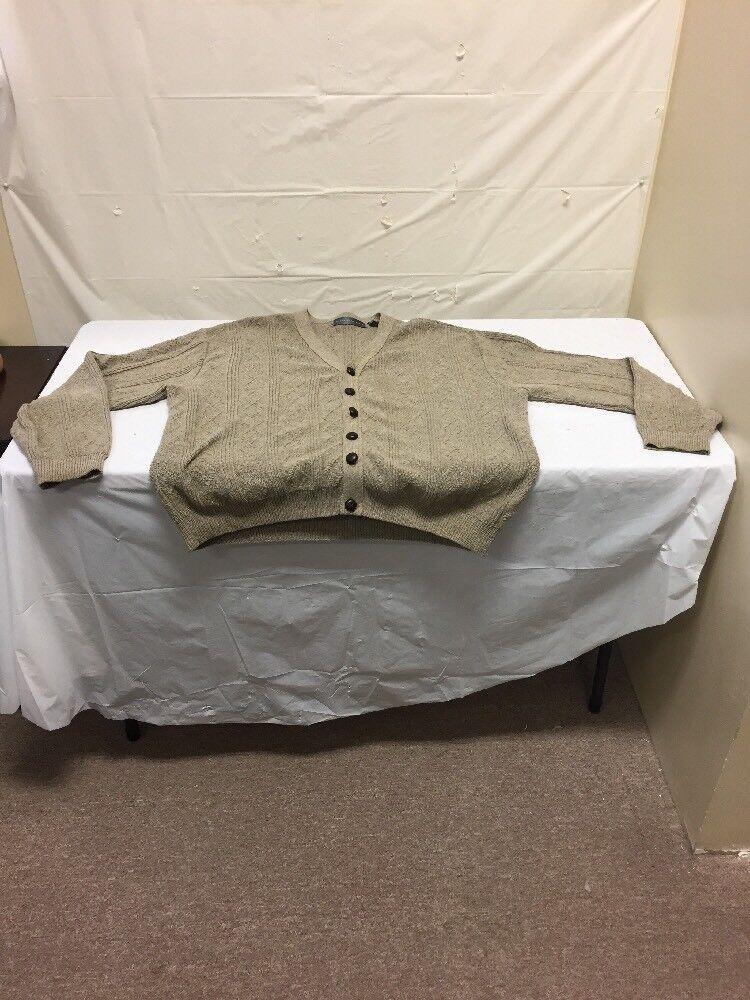 Oscar De La Renta Mens Button Down Sweater Cardigan Sz XXL