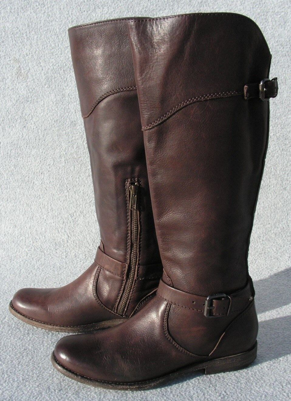 Frye Phillip Tall Leather Riding Boot Size 7.5  Brown    NEW