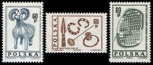 Polska Poland 1966 Fi 1579-81 Mi 1727-29 MNH Archeologia - Pustków, Polska - Polska Poland 1966 Fi 1579-81 Mi 1727-29 MNH Archeologia - Pustków, Polska
