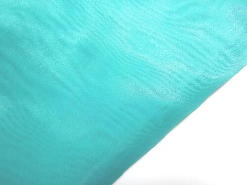 Ac-22 PER METER Lake Blue Sparkle Organza Fabric Braidal dress Decor Material