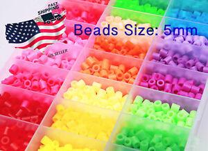 5mm-1000pcs-Perler-Beads-per-Bambini-Regalo-Grande-60-COLORI