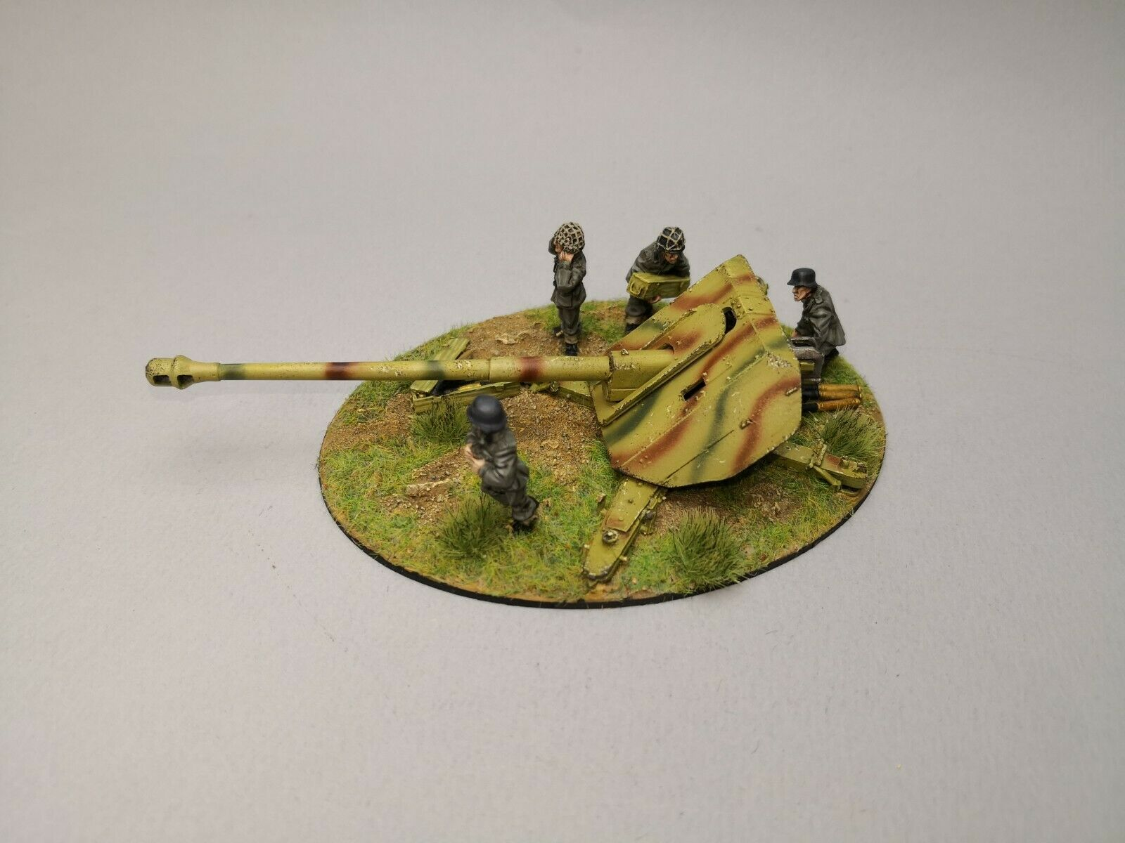 Geruomo 8mm PaK 43 Heavy Anti-tank gun WW2 28mm Bolt azione Pro Painted