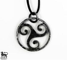 Hand-Forged Celtic Steel Triskelion Pendant --- Tri Knot/Medieval/Viking/Jewelry