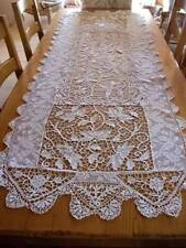 """Gorgeous French Vintage Point Lace Long Table Runner  6ft.9"""" long x 29cm) wide"""