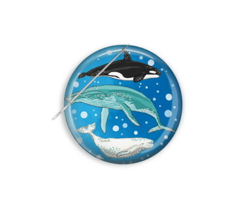 Whale Magnet, Cross Stitch Magnetic Needle Minder Whale Needle Minder