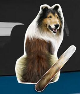 Collie Dog Rear Car Window Sticker With Wagging Tail To Fit On Wiper Arm