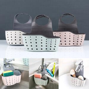 Home-Sink-Faucet-Sponge-Soap-Storage-Organizer-Holder-Shelf-Cloth-Drain-Rack