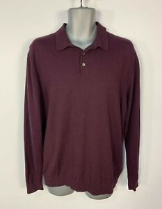 MENS-NEXT-SIZE-LARGE-DARK-RED-BURGUNDY-LONG-SLEEVE-CREW-NECK-CASUAL-T-SHIRT-TOP
