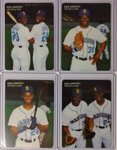 KEN-GRIFFEY-JR-1991-MOTHER-039-S-COOKIES-FATHER-AND-SON-COMPLETE-SET-HOF-MARINERS