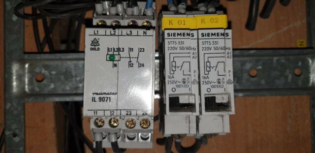 DOLD VARIMETER IL 9071 Überwachungsrelais Unterspannungsrelai 2x Siemens 5TT5331
