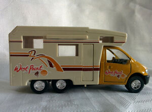 Diecast-amp-Plastic-MOTORHOME-RV-CAMPER-VEHICLE-Toy-West-Point-Door-Open-Pull-n-Go