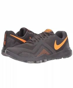 1cd162de13b5 Men Nike Flex Control II Cross Training lifestyle Shoes Grey Orange ...