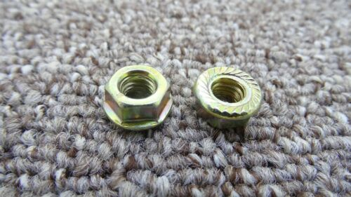 FIAT Car Hex Head Flange Nuts Serrated Zinc Plated Nut Locking Clips