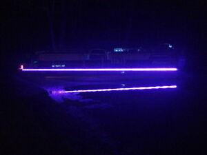 ultraviolet led strip uv black light night fishing boat water, Reel Combo