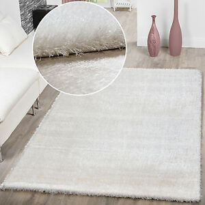 teppich wohnzimmer hochflor teppiche modern elegant weich schimmer ... - Hochflor Teppich Wohnzimmer