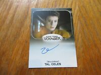 2017 Star Trek 50th Anniversary Zoe Mclellan As Tal Celes Autograph