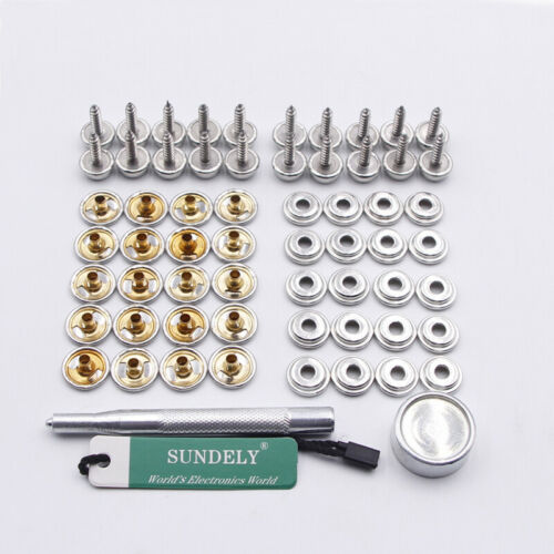 15mm Snap Fastener Stainless Steel Kit Canvas to Screw Press Stud Boat Cover 5/8