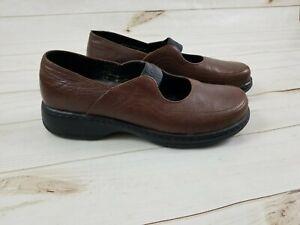 Dansko-Size-EU-41-US-10-5-11-Brown-Leather-Mary-Jane-Slip-on-Shoes