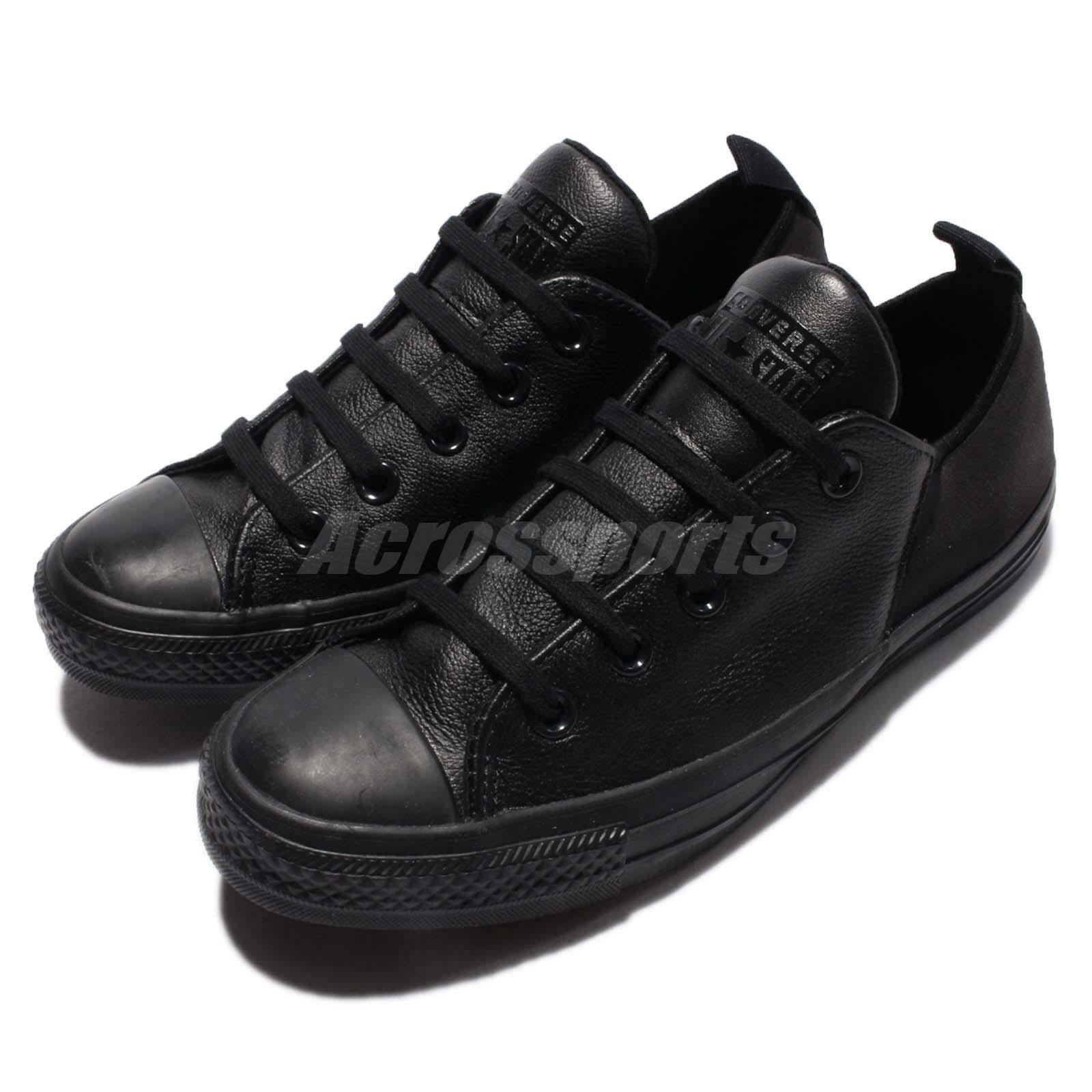 Converse Chuck Taylor All Star Abbey Monochrome Leather Black Women Shoe 553380C