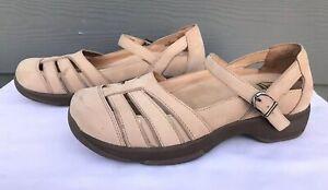 Dansko-Kiera-Women-039-s-Beige-Nu-buck-Mary-Jane-Sandals-Size-US-9-5-10-EU-40