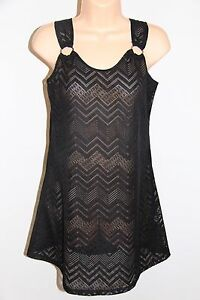 2bca5cddc25bd NWT J. Valdi Swimsuit Bikini Cover Up Tunic Dress Sz S Black Crochet ...