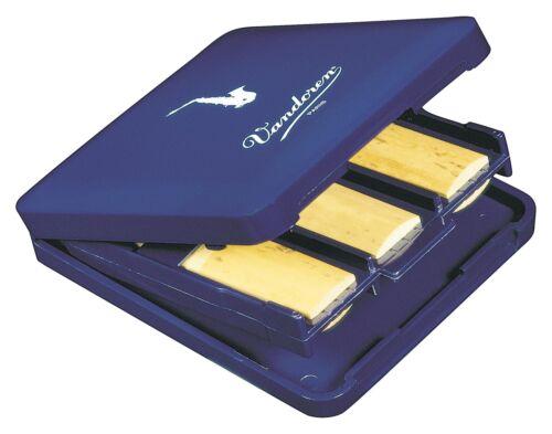 Vandoren Blattetui 6-fach Reed Deluxe Altsaxophon 6 Blätter Luftzirkulation Blau