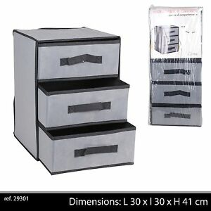 meuble etagere pliant 3 tiroirs tissu rangement portable pliable camping neuf 63 ebay. Black Bedroom Furniture Sets. Home Design Ideas