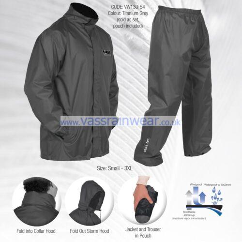 Vass-tex Léger Imperméable /& Respirant Packaway veste /& pantalon set VASS