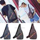 Men's Canvas Satchel Chest Pack Sling Cross Body Handbag Messenger Shoulder Bag