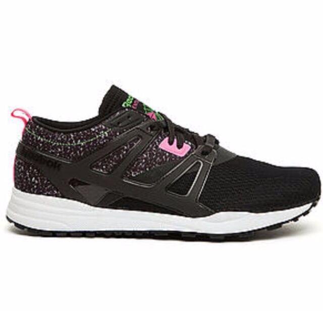 REEBOK V63497 VENTILATOR ADAPT GRAPHIC Mn s (M) Black Pink Mesh Athletic  Shoes e103d4711